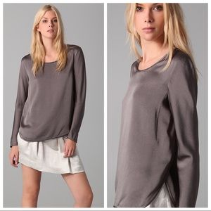 NEW Theory Nishra Split Side Blouse